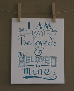 Custom Hand Lettered Scripture Verse Print 8x10 by HandLetteringCo, $10.00