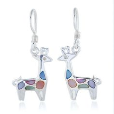 925 Sterling Silver Multi-Colored Mother of Pearl Shell Cute Giraffe Dangle Hook Earrings Fashion Jewelry for Women, Teens, Girls - Nickel Free Chuvora. $29.99. weight: 3.2 g. Packaging: Black Velvet Pouch. 1.3 x 3.5 cm. mark .925 sterling silver. Save 40% Off!