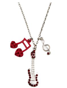 Rock And Roll Guitar Charm Necklace | Necklaces | Jewelry | Shop Justice