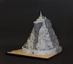 Minas Tirith shines in this amazingly detailed microscale model by Mountain Hobbit. Minas Tirith, Lego News, White City, Lego Models, The Brethren, Lego Moc, Cool Lego, Lego Creations, The Hobbit