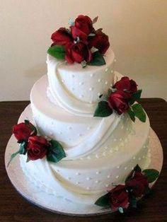 Weiß-rot - die klassiche Farbkombi für eine Hochzeit!