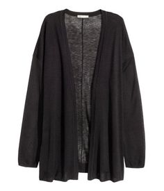 Fine-knit cardigan | Black | Ladies | H&M CA
