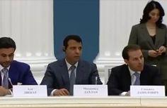 ظهور دحلان في الكرملين بحضور الرئيس بوتين يثير علامات استفاهم ؟
