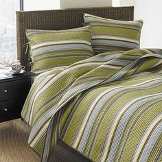 Fresno Striped Quilt Set