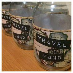 Travel Fund - Glass Money Jar