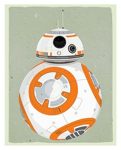 BB8 - Star Wars poster by aswegoarts