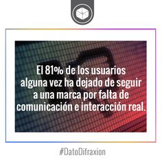 Apostemos a la creación de contenidos de valor para aumentar la interacción. #Follower #MarketingDigital #Marketing #DatoDifraxion