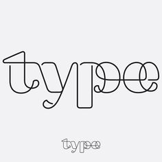 """""""字(Type)"""" lettering study 13—Outlined+Connected #lettering #design #letterform…"""