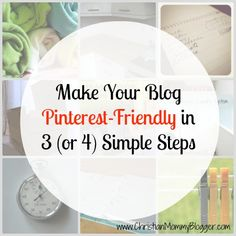 How to Make Your Blog Pinterest Friendly