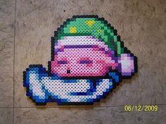 Sleeping Kirby  perler beads  by Cristiaso on deviantART
