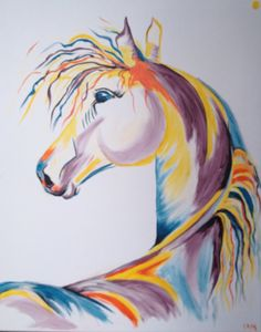 Colorful Horse Painting - 'Bright Light'