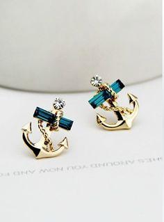 Studded Anchor Earring Stud
