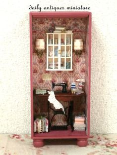 ♡ ♡  Dollhouse miniature Victorian Sewing Room by Yoko Serizawa.