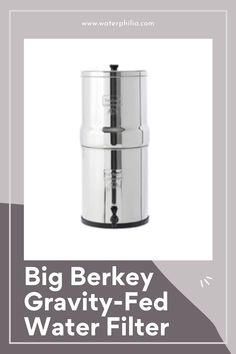 """Holds 2.25 gallons of purified water. Designed for home use for 4 to 16 people The Big Berkey is made with High Grade 304 Stainless Steel and measures 8.5""""D x 21""""H when assembled Each (1) Purification Element has a lifespan of 3,000 gallons. That's 6,000 gallons for a two-filter system. Each (1) Fluoride Filter attaches onto the stem of the Black Element, as a post filters, and can filter up to 1,000 gallons (3,785 liters). Countertop Water Filter, Sink Water Filter, Best Water Filter, Purified Water, Water Purification, Filters, Water Treatment"""