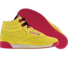 Reebok Womens Freestyle High - Jungle (yellow / berry / black / white) 2-J13367 - $64.99