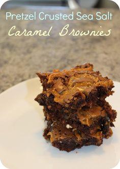 Sea Salt Caramel Brownies? YES please!