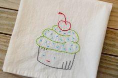 Craftaphile: Handmade Gift Exchange: Embroidered Dish Towel