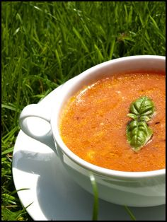 Tasty soup - Orange - tomato soup with mozarella 8