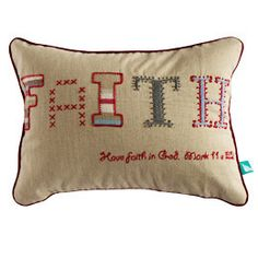 Faith Pillow Cover- India