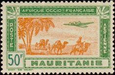 1942: Air Stamp French West Africa (מאוריטניה) (Airmail) Mi:MR 147,Yt:MR PA17