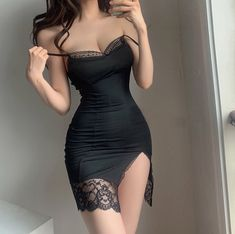 Edgy Outfits, Cute Casual Outfits, Pretty Outfits, Pretty Dresses, Dress Outfits, Girl Outfits, Fashion Outfits, Mode Du Bikini, Lingerie Outfits