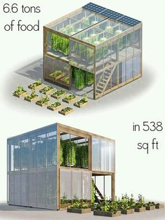 Aquaponics - This flatpack urban farm only takes up 538 square feet, but its creators say that it can yield as much as 6 tonnes tons) of fresh produce per year. - Break-Through Organic Gardening Secret Grows You Up To 10 Times The Plants, In Half The Hydroponic Gardening, Container Gardening, Organic Gardening, Urban Gardening, Vegetable Gardening, Gardening Tips, Gardening Services, Organic Plants, Indoor Gardening