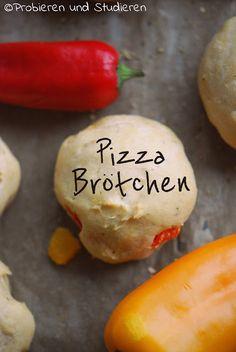 Pizzabrötchen ohne Hefe
