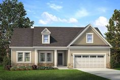 Charming Exclusive House Plan - thumb - 22 Love this one 2 Bed House, Br House, 2 Bedroom House Plans, Duplex House Plans, Craftsman Style House Plans, Ranch House Plans, New House Plans, Small House Floor Plans, Murphy Bed Plans
