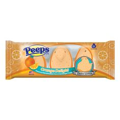PEEPS ORANGE DELIGHT MARSHMALLOW CHICKS *runs in circles* Citrus-flavored Peeps?!?!? Egadegadegadegad!!!!!