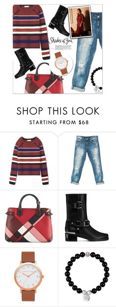 """""""Christian Paul"""" by red-diva ❤ liked on Polyvore featuring Tory Burch, Sans Souci, Burberry, Stuart Weitzman and christianpaul"""