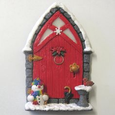 Christmas Fairy Door 2011 by PatsParaphernalia, via Flickr