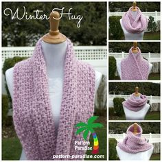 Winter Hug Infinity Scarf by Pattern-Paradise.com... Who wants a quick, easy and pretty pattern, perfect for last minute Christmas gifts? Oh yeah, ......it's FREE too!