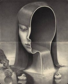 Surreal drawings by Miles Johnston aka Miles_Art. Miles Johnston aka Miles_Art is an artist and illustrator who mainly specializes in surreal drawings and Miles Johnston, Pencil Drawings, Art Drawings, Graphite Art, Spoke Art, Posca Art, Colossal Art, Surrealism Painting, Surreal Art