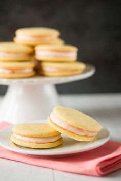 Pink grapefruit sandwich cookies. Splendidly cute.