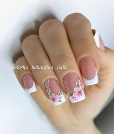 French Tip Nail Designs, Elegant Nail Designs, French Nail Art, Best Nail Art Designs, Nail Designs Spring, Gel Nail Designs, French Manicure Acrylic Nails, Best Acrylic Nails, Animal Nail Designs