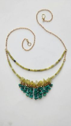 New serpentine and turquoise necklace! https://www.etsy.com/listing/238369768/serpentine-and-turquoise-statement