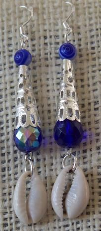 Cowrie Shell & Filigree Earrings