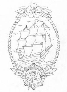 Barco brújula