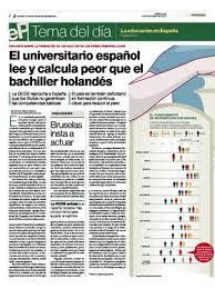 Interesante artículo en el que se empieza en los medios de comunicación a informar sesgadamente de resultados de pruebas estandarizadas europeas comparando con los malos resultados obtenidos en España. #Competencias educativas #Inteligencias múltiples