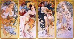 Four Seasons. By Alphonse Mucha