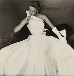 Dress by Madame Grès,1954  Photographer: Henry Clarke