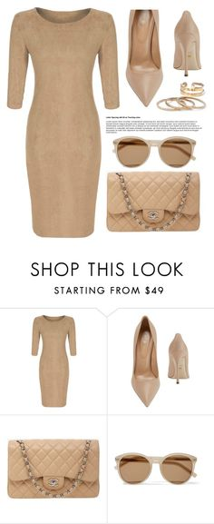"""Neutrals"" by luvsassyselfie ❤ liked on Polyvore featuring Sergio Rossi, Chanel, Yves Saint Laurent and neutral"