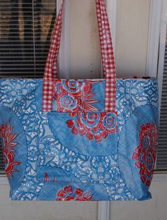 Oilcloth (or laminated cotton) tote/purse sewing tutorial