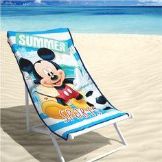 """Disney Strandlaken Mickey Summer 70x140cm is een badlaken van 100% katoen en een """"musthave"""" voor de kids op het strand!"""