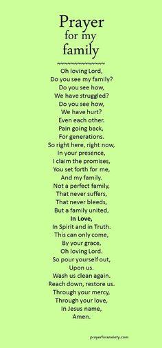 Prayer for my family