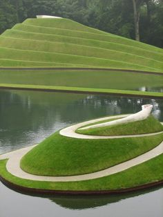 Charles Jencks' land forms at Jupiter Artland, near Edinburgh
