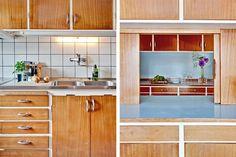 Klövervallsvägen 3, Malmö, Sweden 1963 Nice Kitchen, Kitchen Dining, Kitchen Cabinets, Dining Room, Helsingborg, Tiny Homes, Cool Kitchens, Interior Inspiration, Beautiful Homes