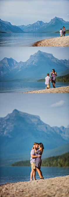 He fell in love with her in the mountains, so Glacier National Park was the perfect place for a romantic marriage proposal!