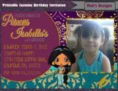 Printable Jasmine Birthday Invitations ~ Princess jasmine birthday party ideas photo of catch my party