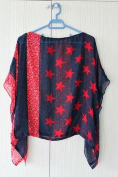 Batwing top sewing tutorial - made from a scarf